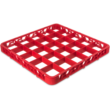 "RE25C05 - OptiClean™ 25 Compartment Divided Glass Rack Extender 1.78"" - Red"