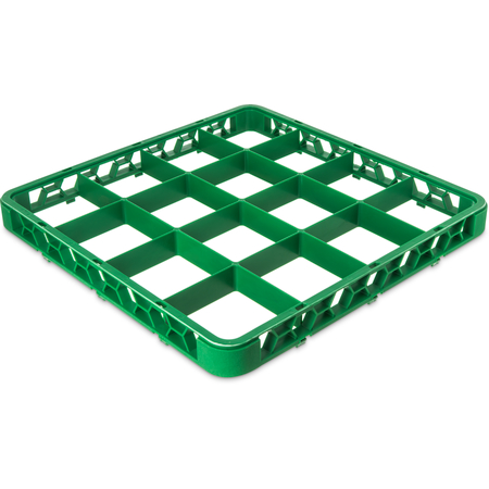 """RE25C09 - OptiClean™ 25 Compartment Divided Glass Rack Extender 1.78"""" - Green"""