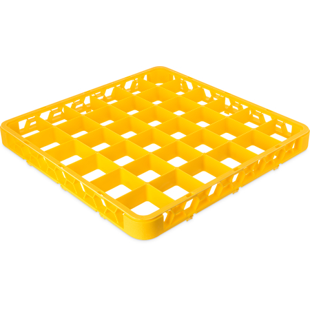 "RE36C04 - OptiClean™ 36 Compartment Divided Glass Rack Extender 1.78"" - Yellow"