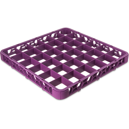 """RE36C89 - OptiClean™ 36 Compartment Divided Glass Rack Extender 1.78"""" - Lavender"""