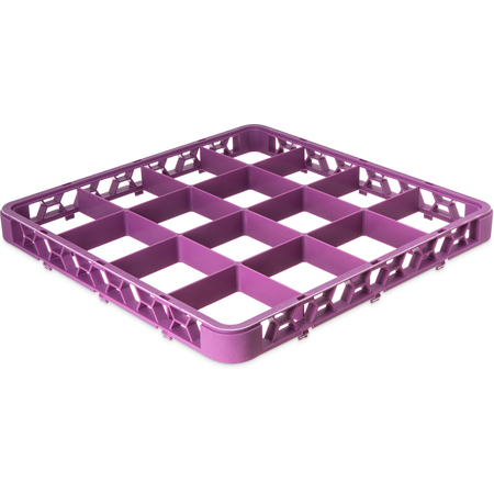 "RE16C89 - OptiClean™ 16-Compartment Divided Glass Rack Extender 1.78"" - Lavender"