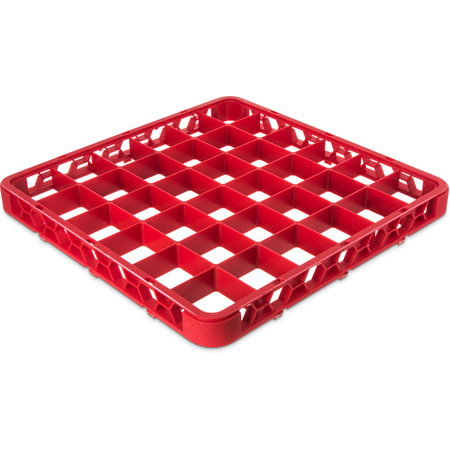 "RE36C05 - OptiClean™ 36-Compartment Divided Glass Rack Extender 1.78"" - Red"