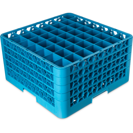 "RG49-414 - OptiClean™ 49-Compartment Divided Glass Rack with 4 Extenders 10.3"" - Carlisle Blue"