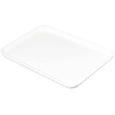 "1318FMT301 - Fiberglass Market Tray 17 3/4"" x 12-3/4"" x 1"" - Pearl White"