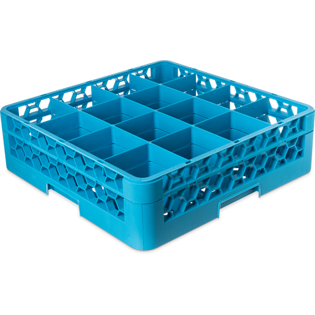 "RG16-114 - OptiClean™ 16-Compartment Divided Glass Rack with 1 Extender 5.56"" - Carlisle Blue"