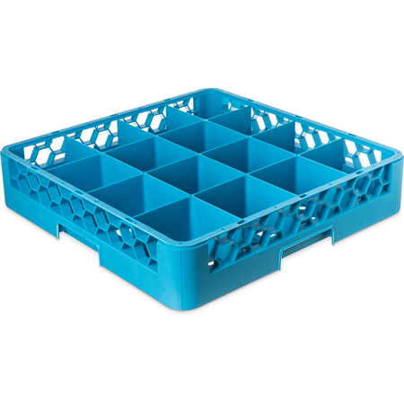 RG1614 - OptiClean™ 16-Compartment Divided Glass Rack 3.25 - Carlisle Blue