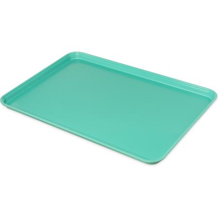 """2618FMTQ304 - Fiberglass Market Tray 17.9"""" x 25.6"""" x 1 1/4"""" (6ea) - Aqua"""