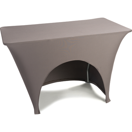 "EMB5026AC418515 - Embrace™ Arch Cut Stretch Table Cover 48"" x 18"" x 30"" - Chocolate"