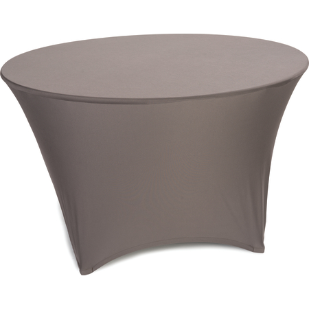 "EMB5026R60515 - Embrace™ Round Stretch Table Cover 60"" - Chocolate"