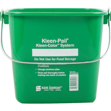 KP196KCGN - PAIL, KP - KLEEN COLOR 6QT- GREEN