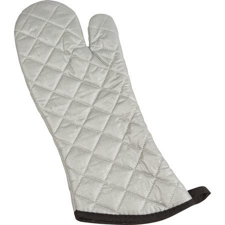 """801SG17DZ - SILICONE OVEN MITTS, 17"""" SILVER"""