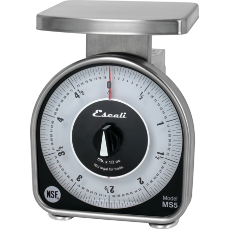 SCMDL5 - NSF LISTED MS-SERIES DIAL SCALE, 5 LB / 80 OZ