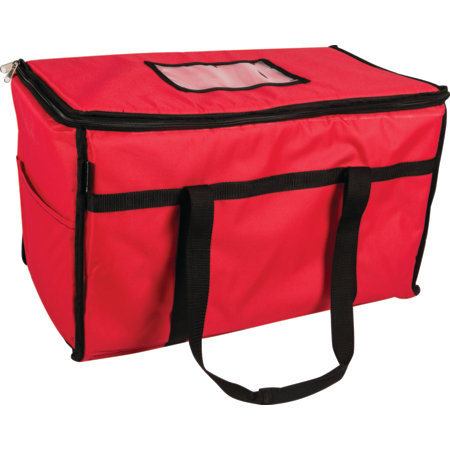 "FC2212-RD - 22"" X 12"" X 12"" RED FOOD CARRIER"