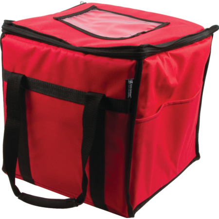 "FC1212-RD - 12"" X 12"" X 12"" RED FOOD CARRIER"