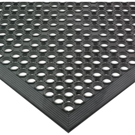 KM1100 - ANTI-FATG MAT, 3'X5'X1/2-BLK BEVLD