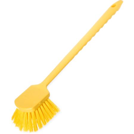 """40501C04 - Sparta® Utility Scrub Brush with Polyester Bristles 20"""" x 3"""" - Yellow"""