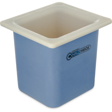 CM1105C1402 - Coldmaster® CoolCheck® Sixth-Size High Capacity Food Pan 1.7 qt - White/Blue