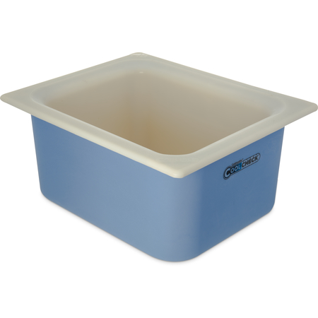 CM1101C1402 - Coldmaster® CoolCheck® Half-Size Food Pan 6 qt - White/Blue