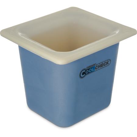 CM1104C1402 - Coldmaster® CoolCheck® Sixth-Size Food Pan 1.6 qt - White/Blue