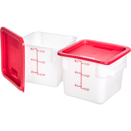 10732-202 - StorPlus™ 2-Pack Polyethylene Square Containers & Lids 6 qt - White