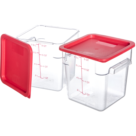 10723-207 - StorPlus™ 2-Pack Polycarbonate Square Containers & Lids 8 qt - Clear