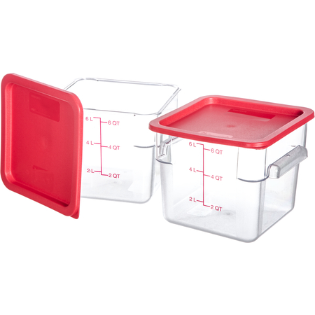 10722-207 - StorPlus™ 2-Pack Polycarbonate Square Containers & Lids 6 qt - Clear
