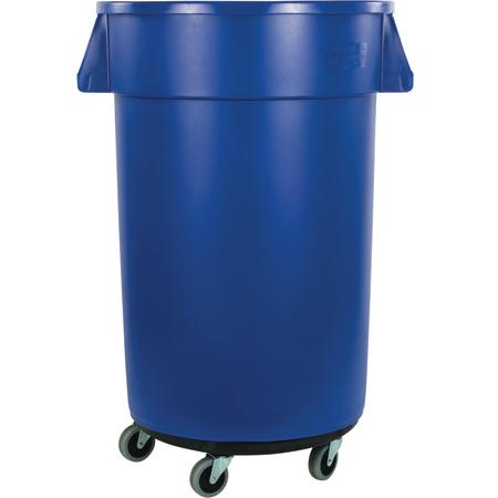34113214 - Bronco™ Round Waste Bin Trash Container & Dolly 32 Gallon - Blue