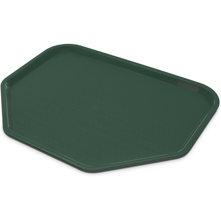 "CT1713TR08 - Cafe® Trapezoid Fast Food Cafeteria Tray 18"" x 14"" - Forest Green"