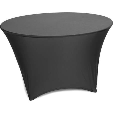 "EMB5026R48014 - Embrace™ Round Stretch Table Cover 48"" - Black"