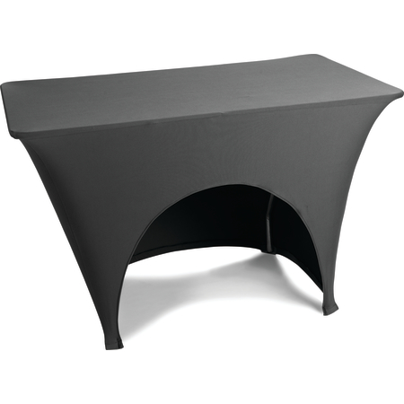 "EMB5026AC830014 - Embrace™ Arch Cut Stretch Table Cover 96"" x 30"" x 30"" - Black"