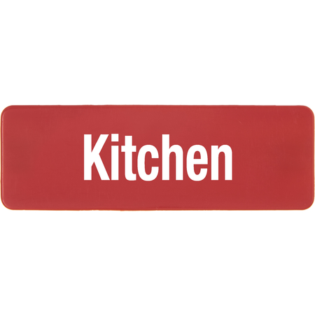 PLQ10105 - PLAQUE LOCATION KITCHEN RED