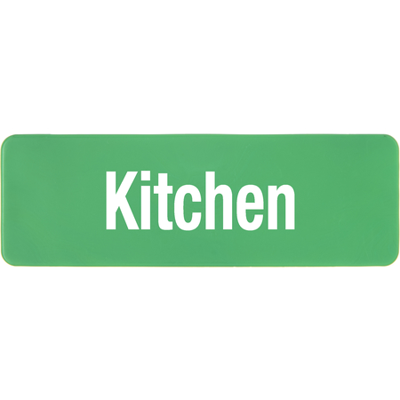 PLQ10109 - PLAQUE LOCATION KITCHEN GREEN