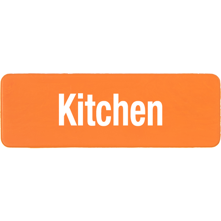 PLQ10124 - PLAQUE LOCATION KITCHEN ORANGE