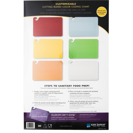 CBCWLCT - WALL CHART,CUTTING BOARD COLOR