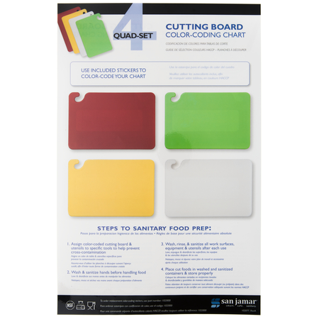 QSWLCT - Cut-N-Carry Cutting Board Color Coding Chart 4 Board