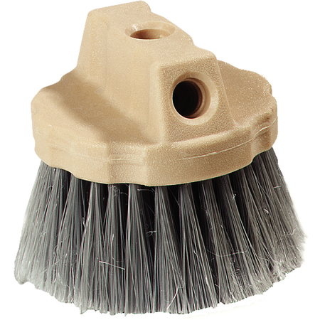 4535023 - Round Window Brush With Flagged Polypropylene Bristles 4-1/2 - Gray