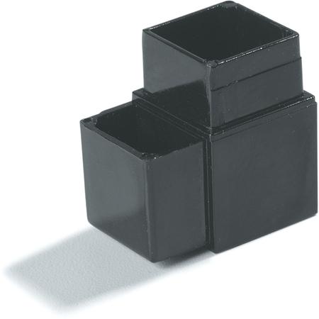 "900403 - Sneeze Guard Assembly Blocks 1"" 90* 2 Prong - Black"