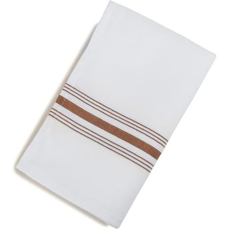"53771822NH515 - Bistro Striped Napkin 18"" x 22"" - Chocolate"