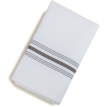 "53771822NH512 - SoftWeave™ Bistro Striped Napkin 18"" x 22"" - Metallic Gray"