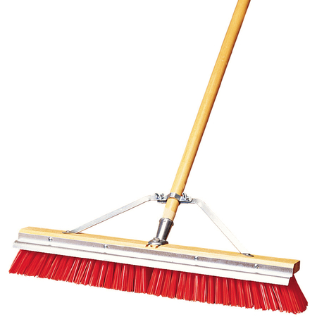 """367395TC24 - 24"""" Rough Scraperbroom® w/Orange Plastic Bristles 24"""" - Orange"""