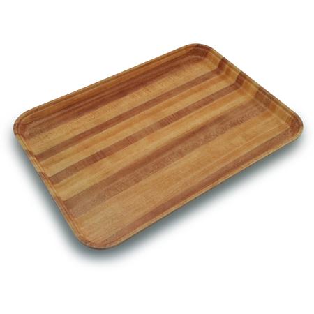 "1814WFG092 - Glasteel™ Wood Grain Rectangular Tray 18"" x 14"" - Butcher Block"