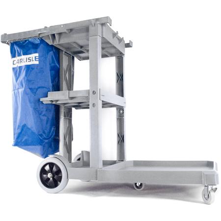 JC1945L23 - Long Platform Janitorial Cart - Gray