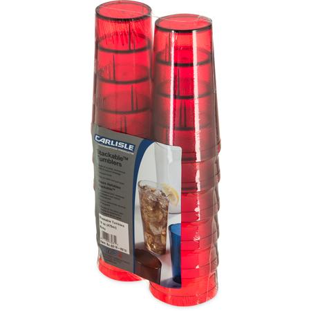 5216-8210 - Stackable™ Cash 'n Carry SAN Tumbler 16 oz (12/pk) - Ruby