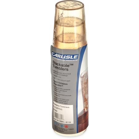 5526-8113 - Stackable™ SAN Tumbler 8 oz - Cash & Carry (6/pk) - Amber