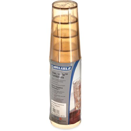 5216-8113 - Stackable™ Cash 'n Carry SAN Tumbler 16 oz - Cash & Carry (6/pk) - Amber