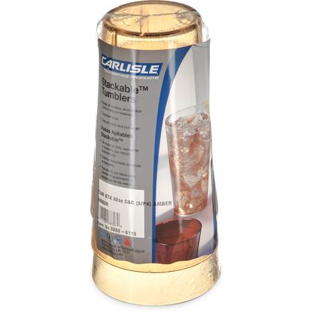 5532-8113 - Stackable™ SAN Tumbler 32 oz - Cash & Carry (3/pk) - Amber