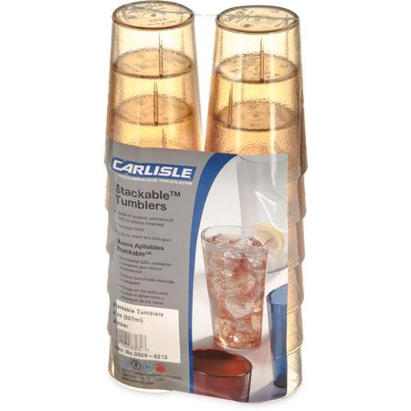 5526-8213 - Stackable™ SAN Tumbler 8 oz (12/pk) - Amber
