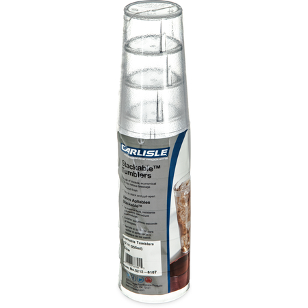 5212-8107 - Stackable™ SAN Tumbler 12 oz - Cash & Carry (6/pk) - Clear