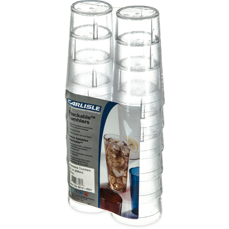 5212-8207 - Stackable™ SAN Tumbler 12 oz (12/pk) - Clear