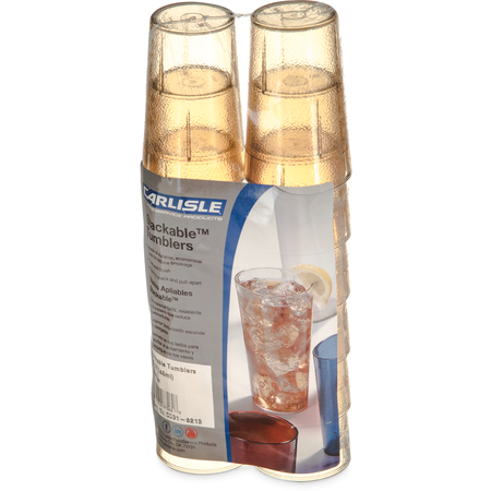 5501-8213 - Stackable™ SAN Tumbler 5 oz (12/pk) - Amber